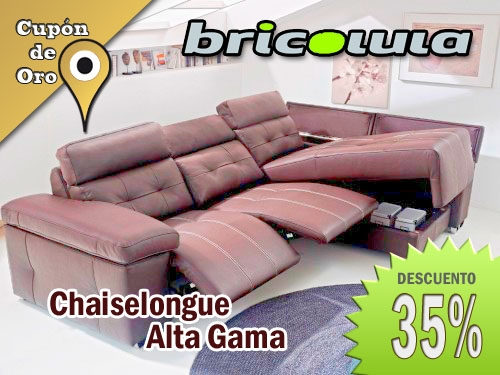 Chaiselongue alta gama 35 descuento en bricolula de olula for Marcas sofas gama alta