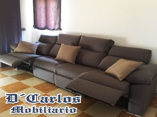 Chaise longue Relax with 4 motor unit in D'Carlos Mobiliario, sofás manufacturing company from Antas